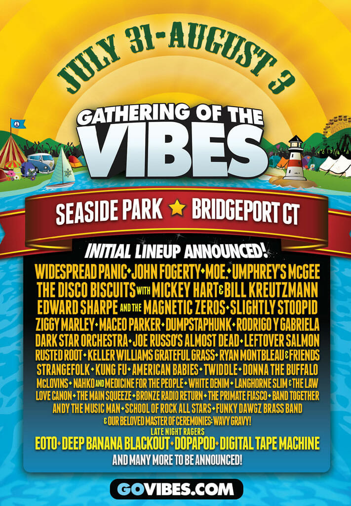 Gathering Of The Vibes 2014 Flyer